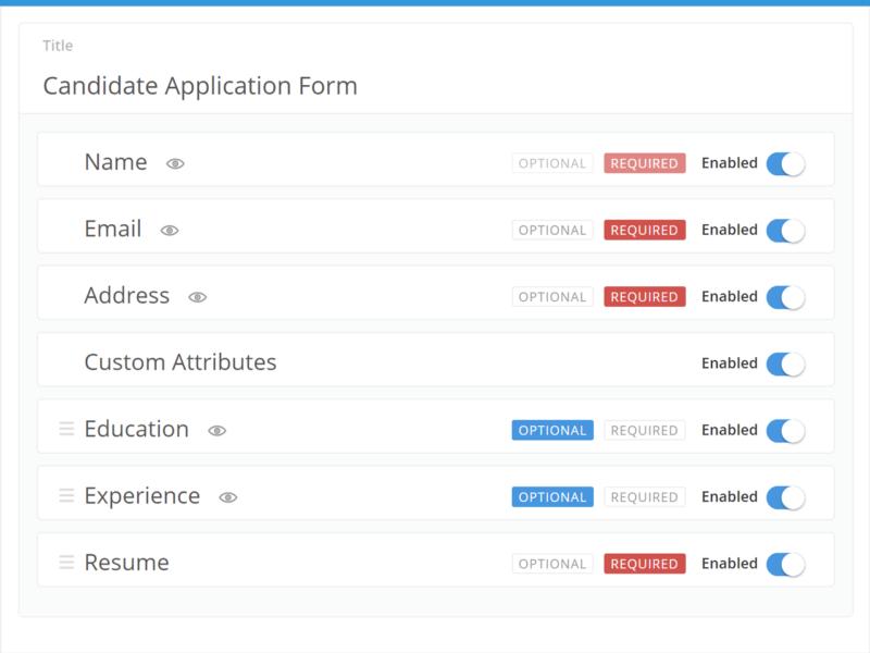 Customizable Application Form