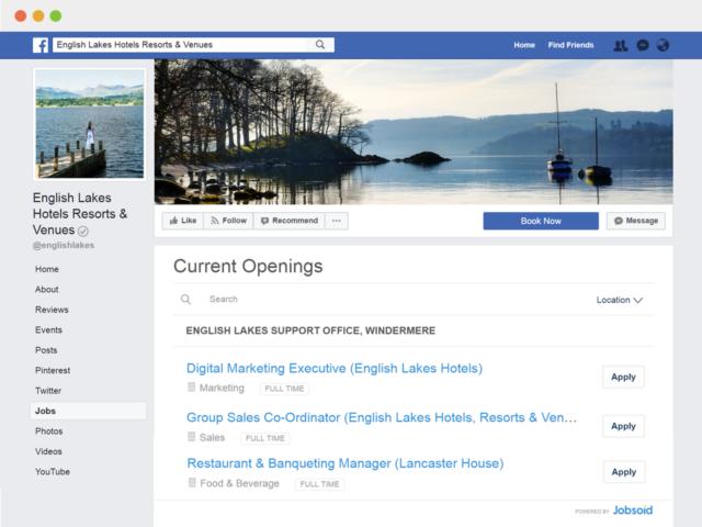facebook careers tab