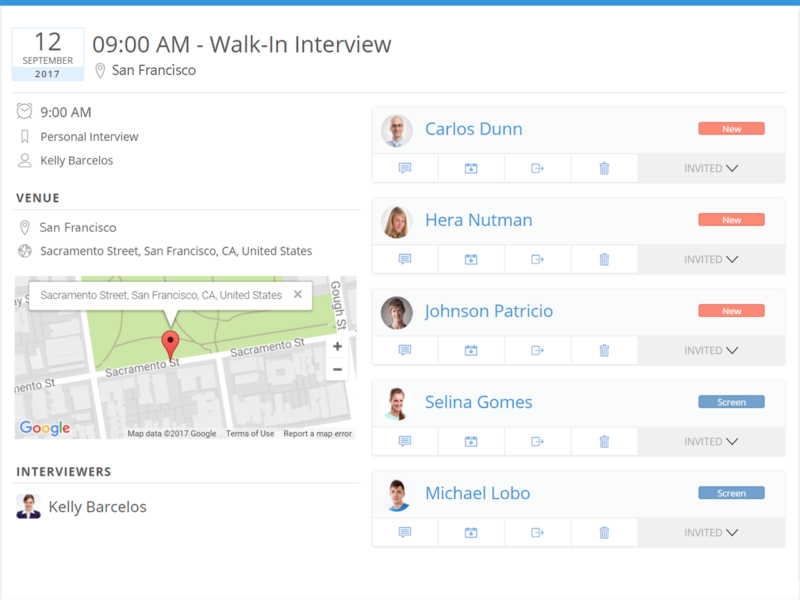Schedule Interviews Seamlessly With Built In Email And Calendar