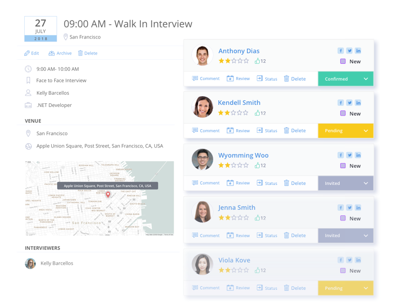 Hassle-free interview scheduling