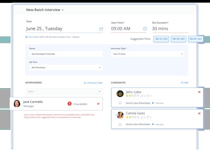 Smart Interview Scheduling