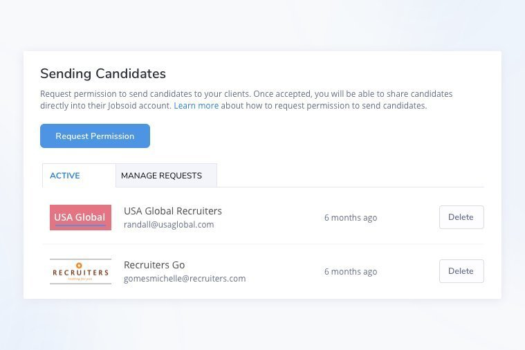 Sharing Candidates between Recruiting Agencies and Employers