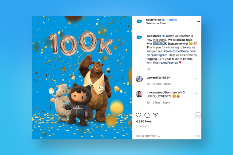 SalesForce - One of the best examples of Employer Branding on Instagram