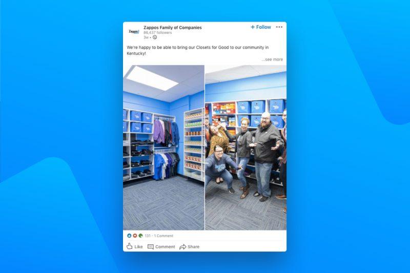 Zappos - Employer Branding on LinkedIn