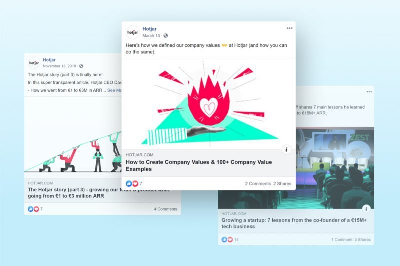 How Hotjar does Employer Branding on Facebook