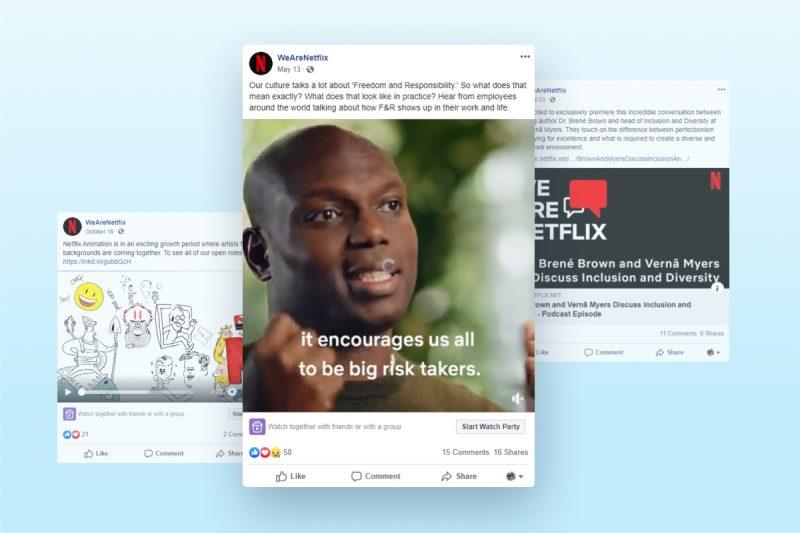 Netflix - Best Example of Employer Branding on Facebook