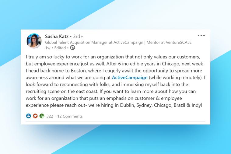 Sasha Katz - Global Talent Acquisition Manager, ActiveCampaign