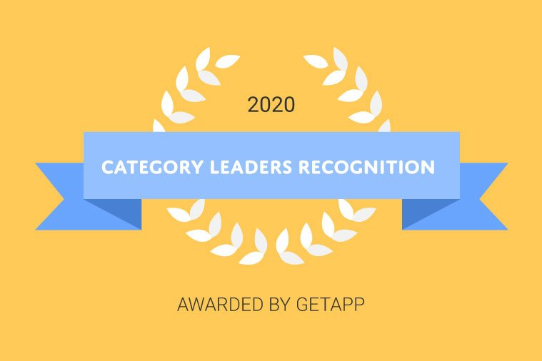 Award Badge - Jobsoid receives Category Leaders Recognition in Video Interview Software by GetApp.