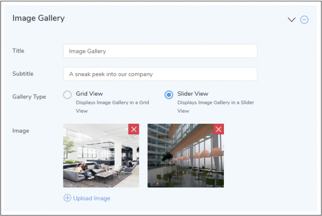 Image Gallery Section - Tool #3 to Design Attractive Careers Page using Jobsoid