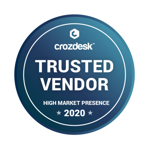 Jobsoid receives Trusted Vendor - High Market Presence 2020 Badge from Crozdesk